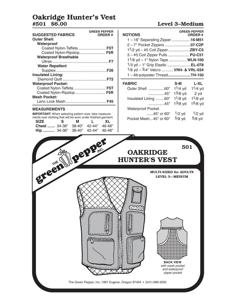 Vest Sewing Pattern Hunter Vest Sewing Pattern Walmart