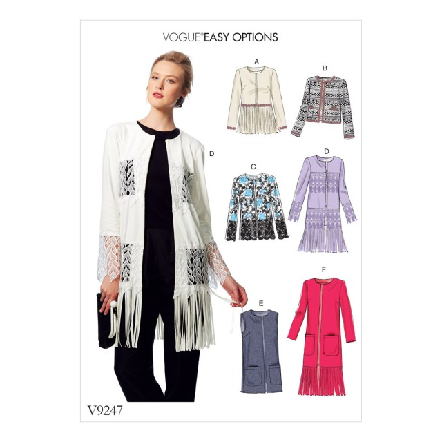 Vest Sewing Pattern Vogue Sewing Pattern Misses Open Front Embellished Jackets And Vest
