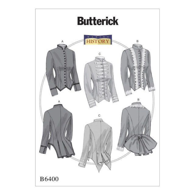 Victorian Sewing Patterns Butterick Sewing Pattern Misses History Victorian Boned Jackets Size