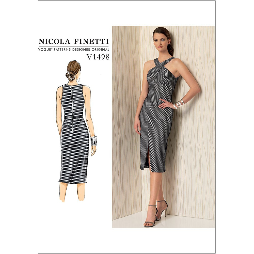 Vogue Sewing Patterns Misses Criss Cross Strap Dress Vogue Sewing Pattern 1498 Sew Essential
