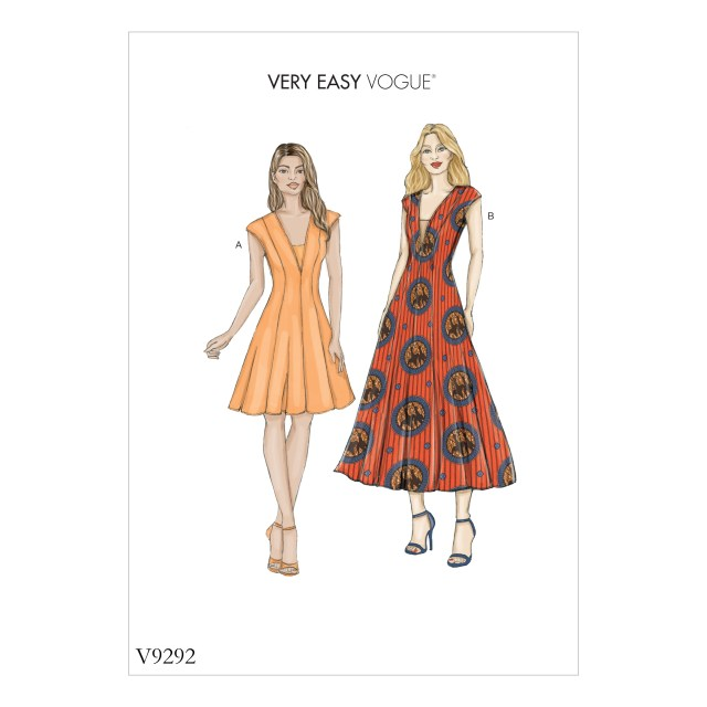 Vogue Sewing Patterns Vogue Patterns 9292 Misses Dress And Dickie