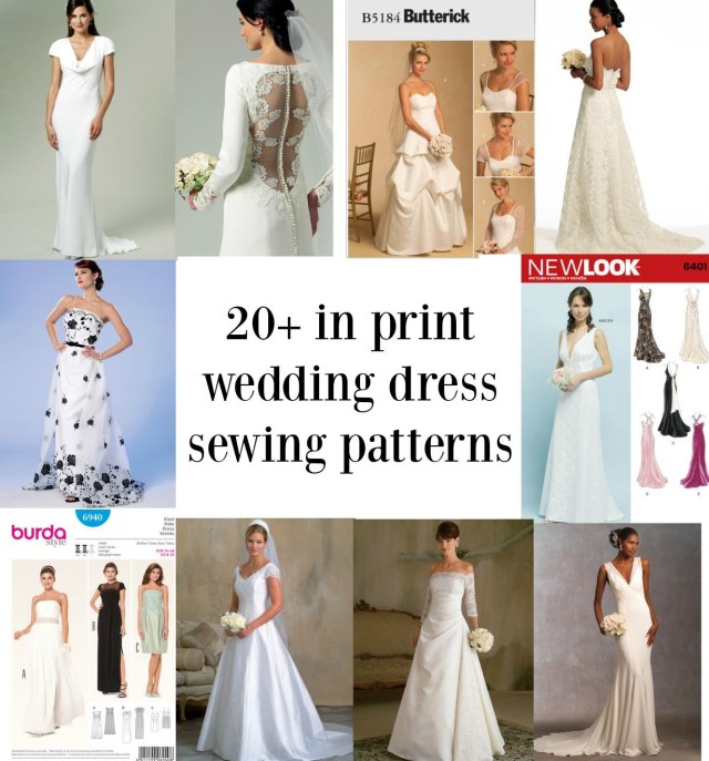 Wedding Dress Patterns To Sew Links To Over Twenty In Print Bridal Gown Sewing Patterns Sewing