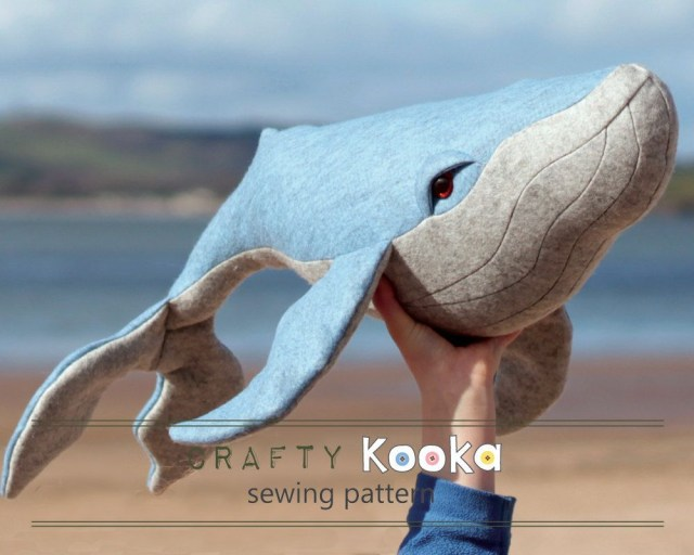 Whale Pattern To Sew Humpback Whale Pattern For Instant Download Pdf Pattern Diy