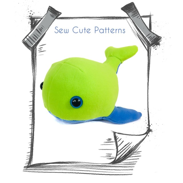Whale Pattern To Sew Whale Sewing Pattern Sew Cute Patterns Sewing Sewing Patterns