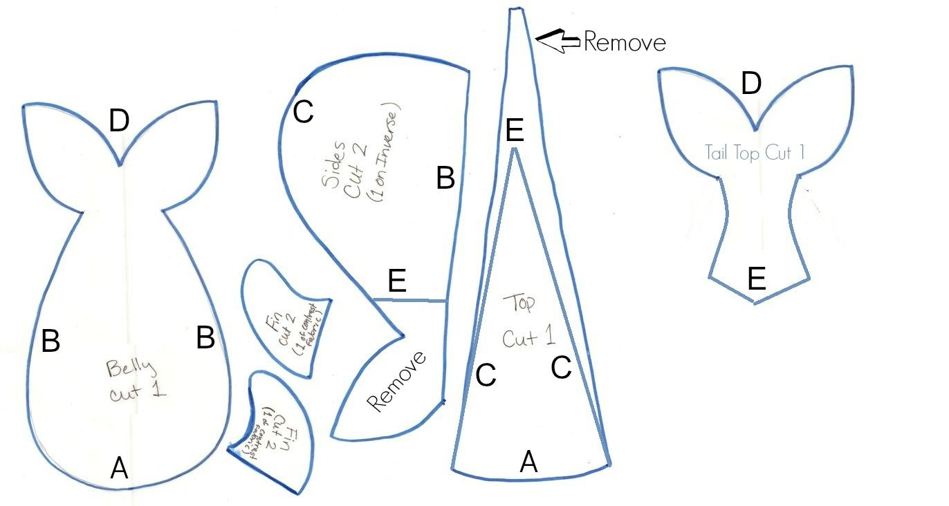 graphic regarding Teddy Bear Sewing Pattern Free Printable known as 23+ Simplest Image of Whale Habit Towards Sew -
