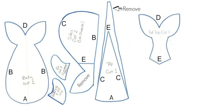 Whale Pattern To Sew Whale Stuffed Toy Pattern Hopefully You Can See What Ive Done I