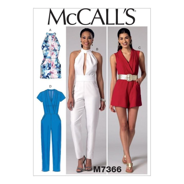 Womens Romper Sewing Pattern Mccall S Sewing Pattern Misses Rompers Jumpsuits Belt Size 6 22