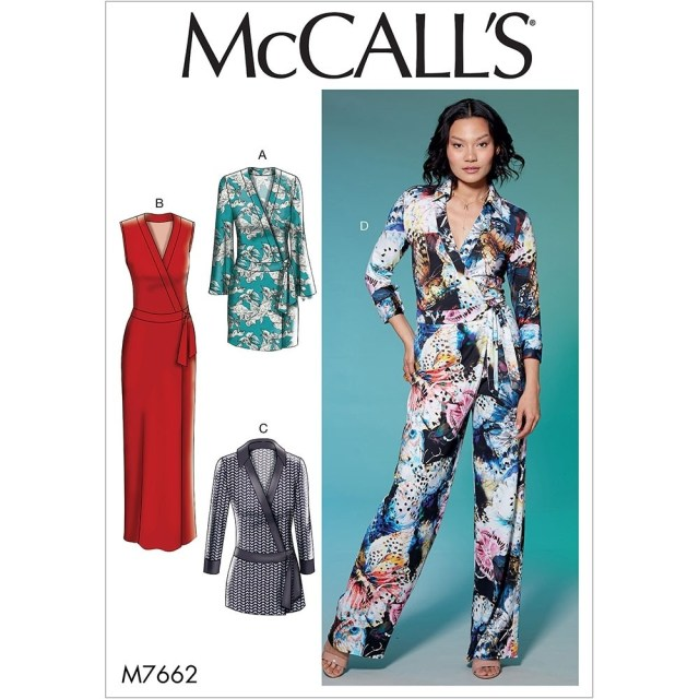 Womens Romper Sewing Pattern Misses Wrap Dresses Romper And Jumpsuit With Ties Mccalls Sewing