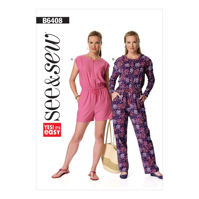 Womens Romper Sewing Pattern Womens Blouson Bodice Romper And Jumpsuit 4 26 Butterick Sewing