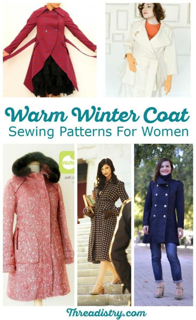 Womens Sewing Patterns Brave The Cold With Wonderful Womens Winter Coat Sewing Patterns
