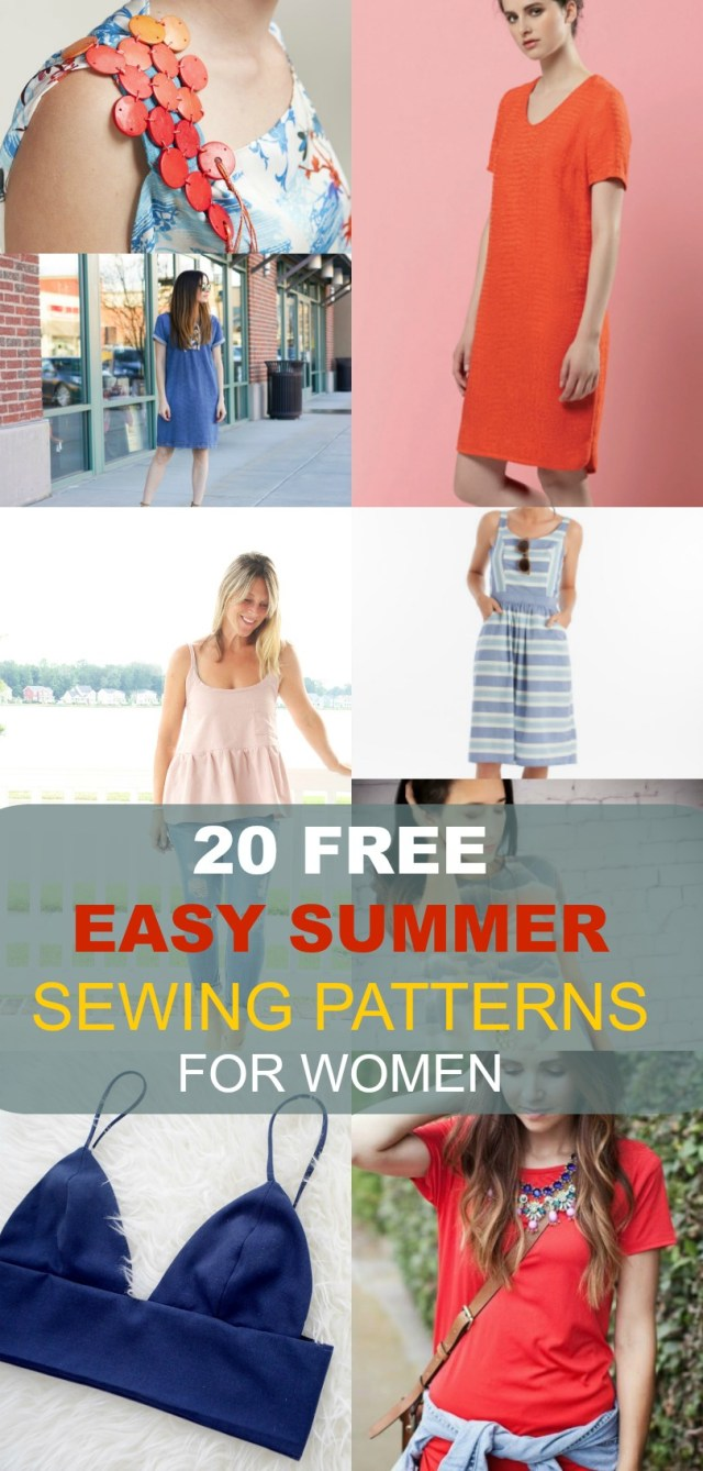 Womens Sewing Patterns Free Sewing Patterns 20 Easy Summer Patterns For Women On The