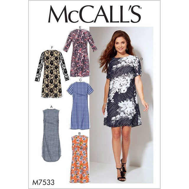 Womens Sewing Patterns Misses And Womens Fitted Sheath Dresses Mccalls Sewing Pattern 7533