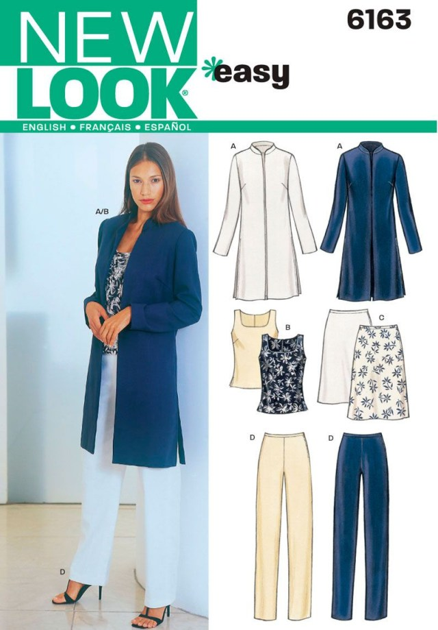 Womens Sewing Patterns Womens Jacket Top Pants Sewing Pattern 6163 New Look Patterns