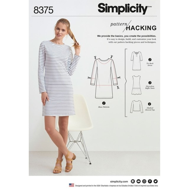 Womens Sewing Patterns Womens Knit Dress Or Top For Design Hacking Simplicity Sewing