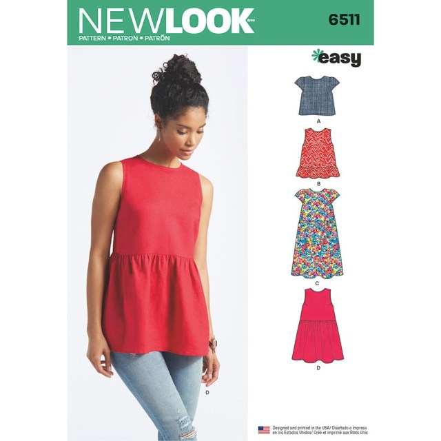 Womens Sewing Patterns Womens Tops With Length And Sleeve Variations New Look Sewing