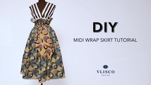 Wrap Skirt Sewing Pattern Diy Midi Wrap Skirt Tutorial Vlisco Tell Collection Youtube