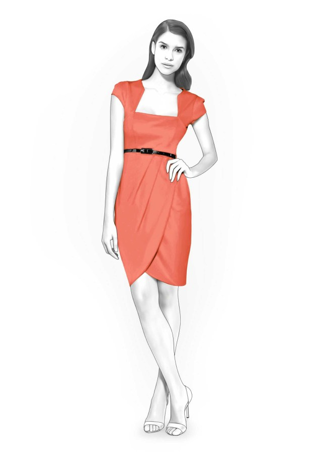 Wrap Skirt Sewing Pattern Dress With Wrap Skirt Sewing Pattern 4209 Made To Measure Sewing