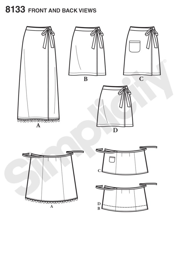 Wrap Skirt Sewing Pattern Simplicity Simplicity Pattern 8133 Misses Learn To Sew Wrap Skirts