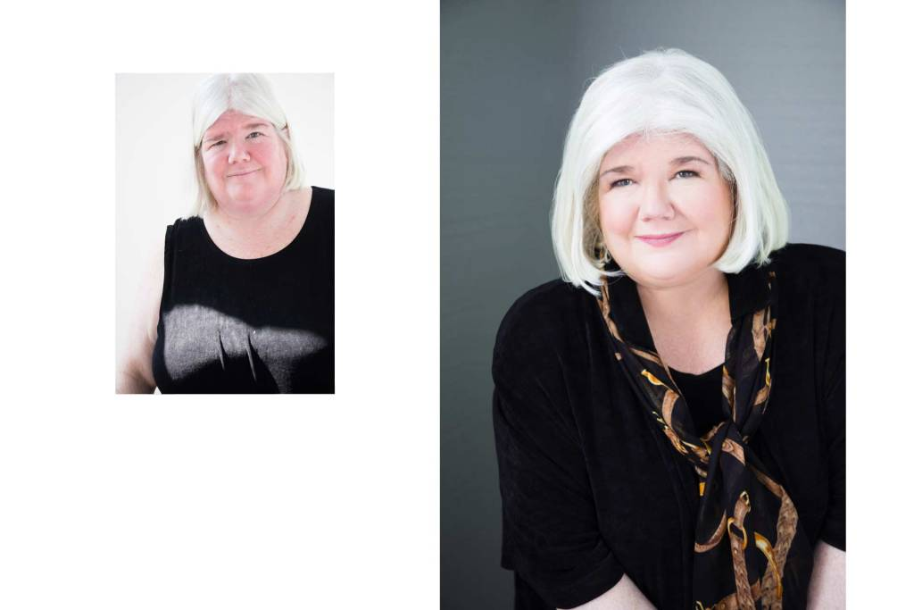 Before and after - headshot