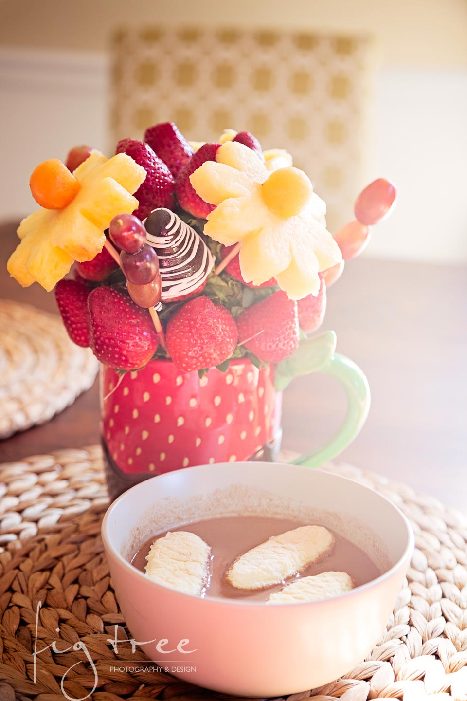 Spring chocolate soup