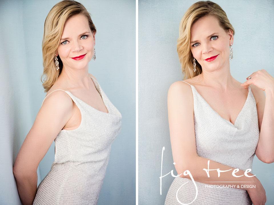 Pia - white dress portrait