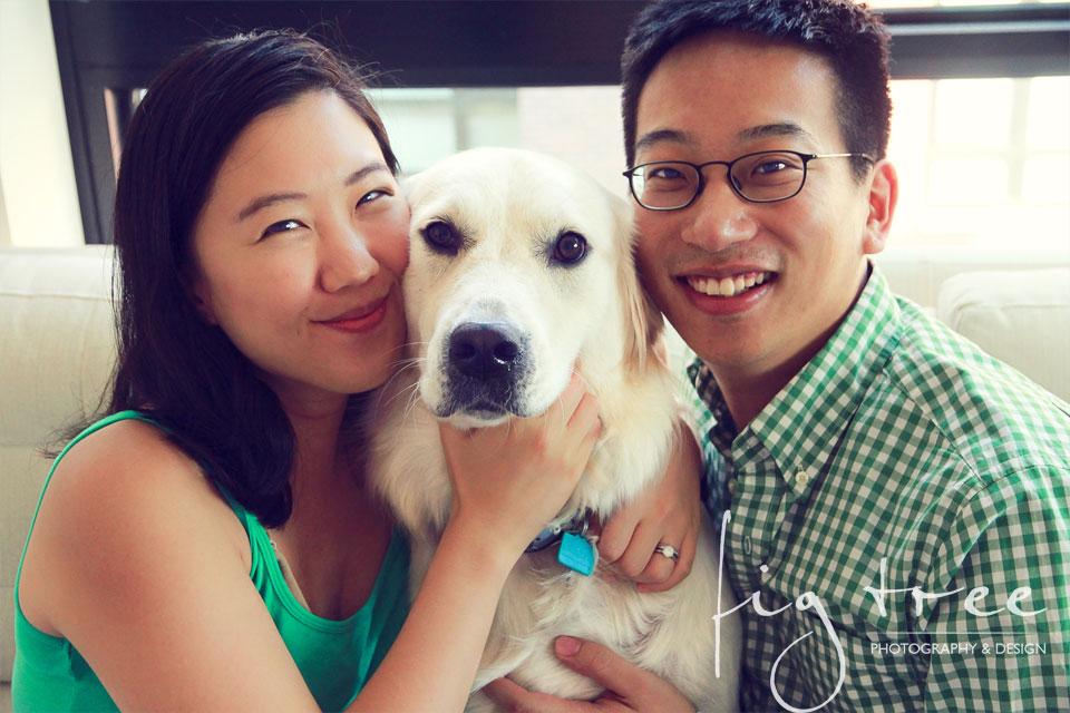 Philadelphia maternity session - portrait with the dog