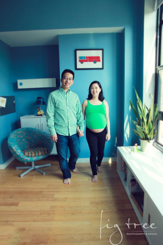 Philadelphia maternity session - walking portrait