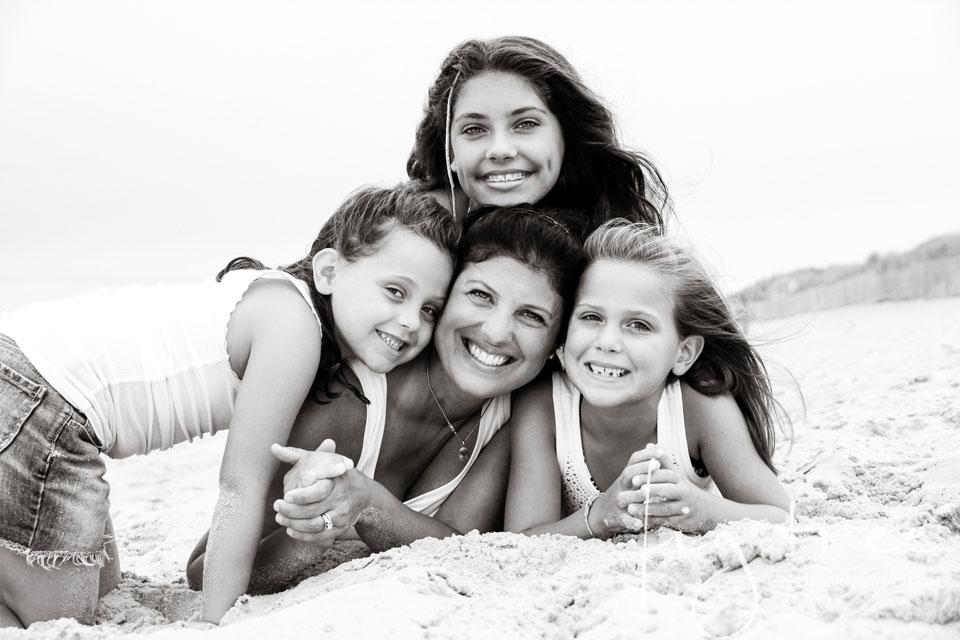 beach session on LBI - four ladies