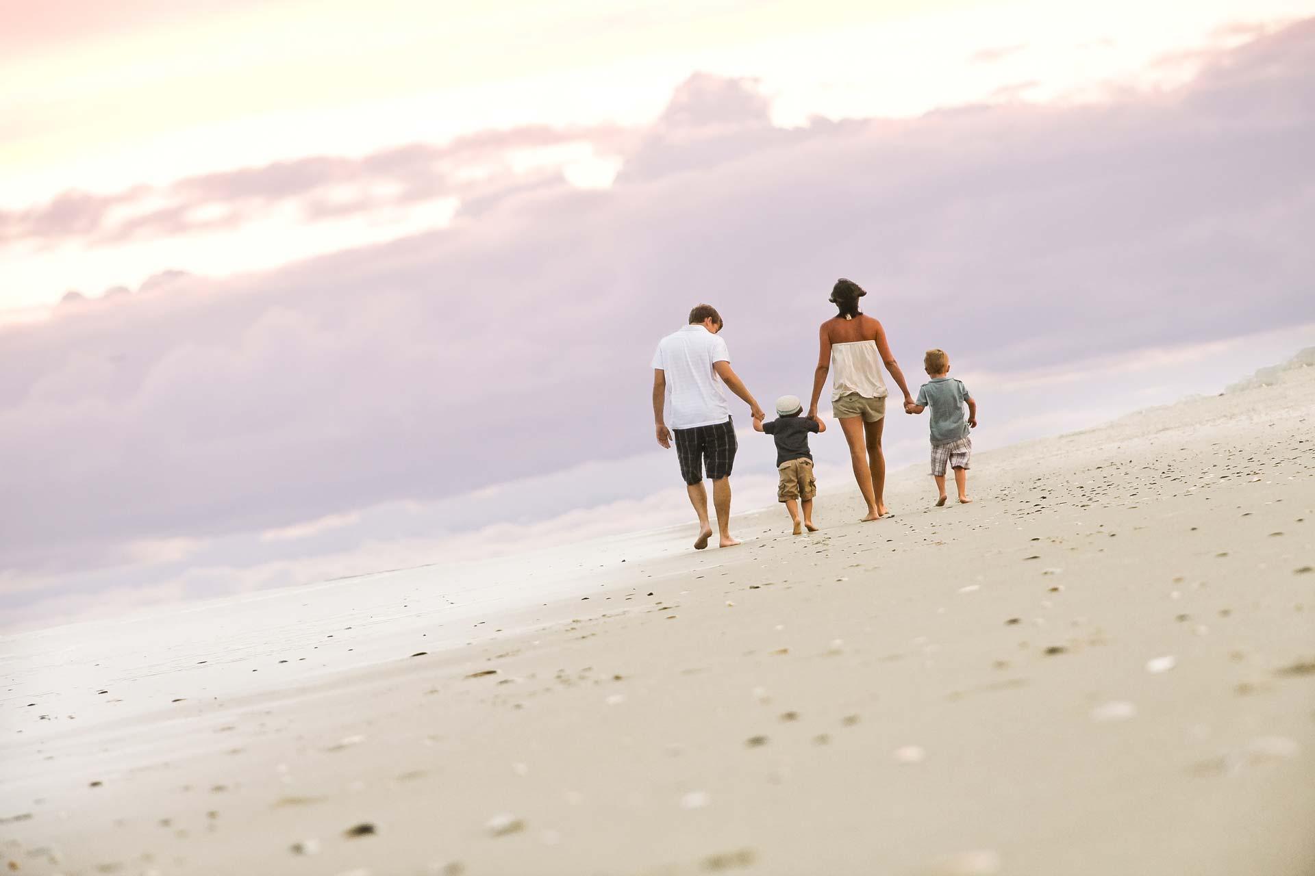Beach portrait - family