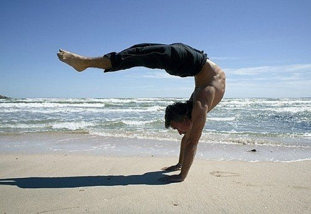 Power yoga makes the body and spirit strong