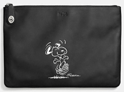 Coach X Peanuts extra large folio-black
