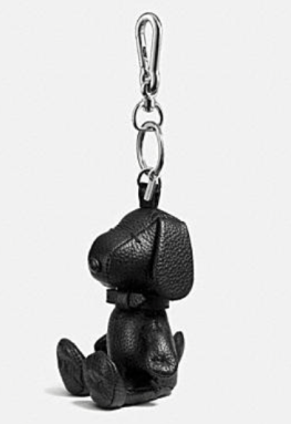 Coach X Peanuts leather key ring
