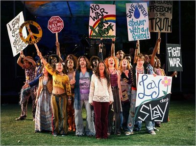 The cast of Hair during its run at last year's Shakespeare in the Park.