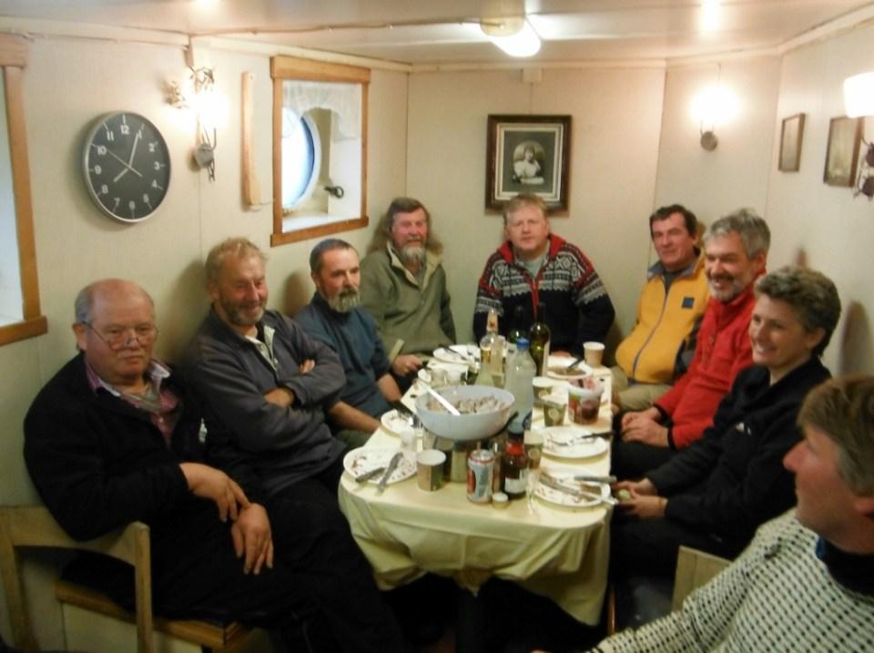 Crew of Novara, Arctic Tern, Tandberg Polar, Gjoa.