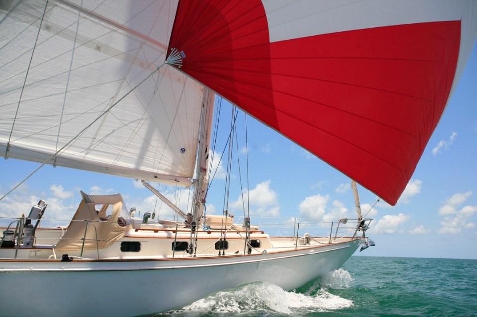 Lola under sail
