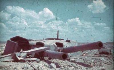 Destroyed coastal guns