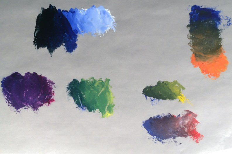 Ultramarine Blue Mixes