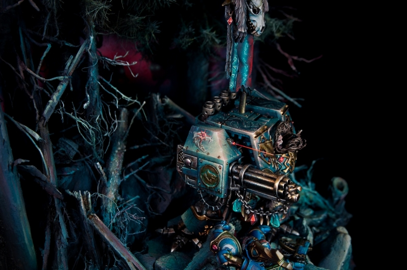 At Night They Howl (A Space Wolves diorama) - the complete process by Pawel Makuch