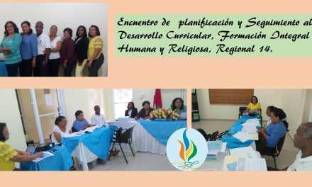 Encuentro de planificación y Seguimiento al Desarrollo Curricular, FIHR, Regional 14
