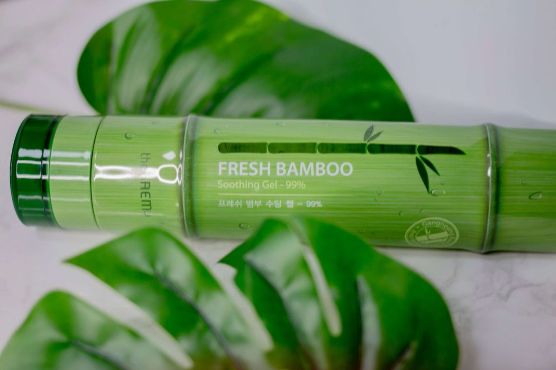 a photo of  the saem fresh bamboo soothing gel tube which is talked about in this july korean skincare haul