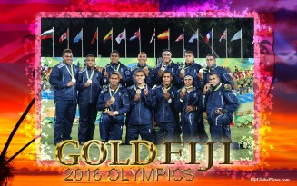 Fiji Gold Medalist Poster - Rugby 7s - Rio Olympics 2016