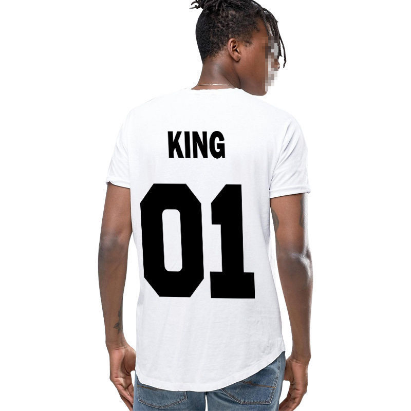 420fe4823fdc Couple T-Shirt King 01 And Queen 01 Love Matching Shirts Summer Tee Tops