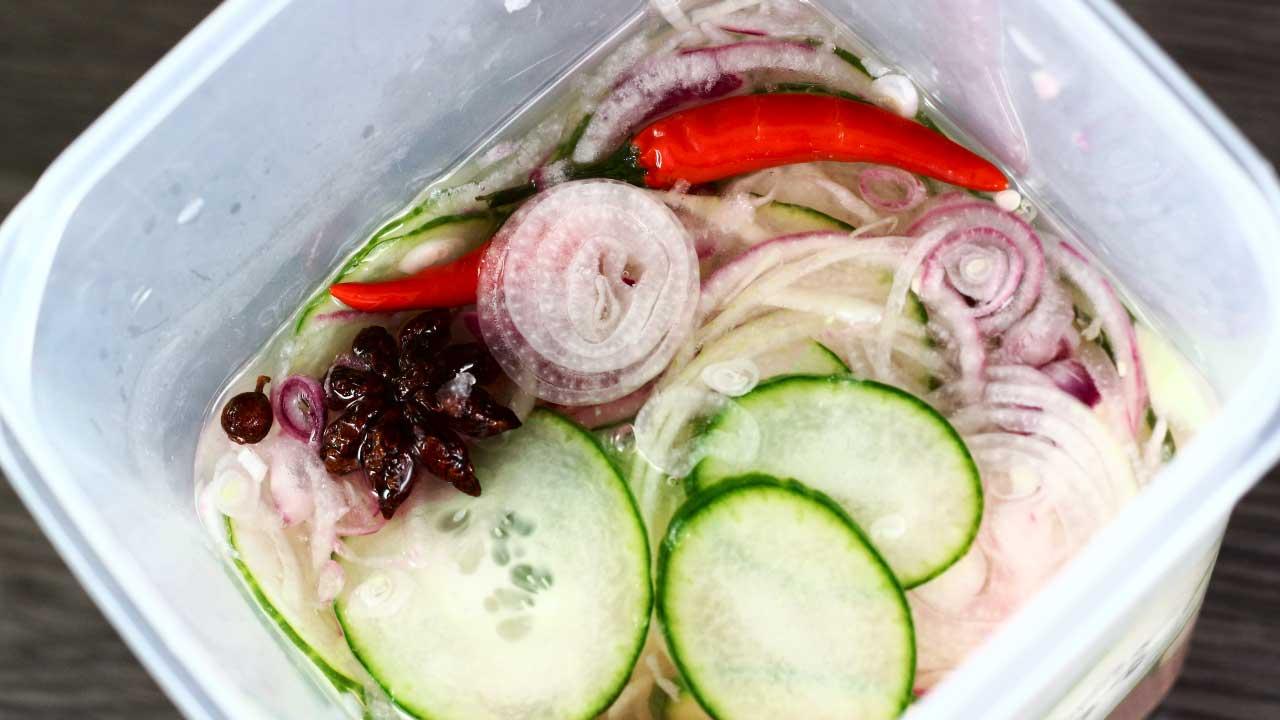 zoetzure komkommer, komkommer in zuur