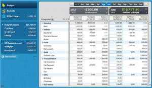 Simple, at-a-glance budgeting lets you keep a close eye on where things stand. (click to enlarge)