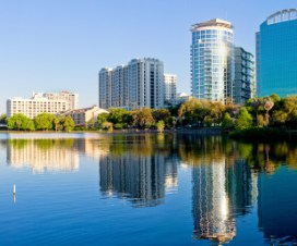 Downtown Orlando skyline-Lake Eola