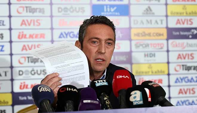 Fenerbahçe Başkanı Ali Koç açıklama ve suçlamalarda bulundu