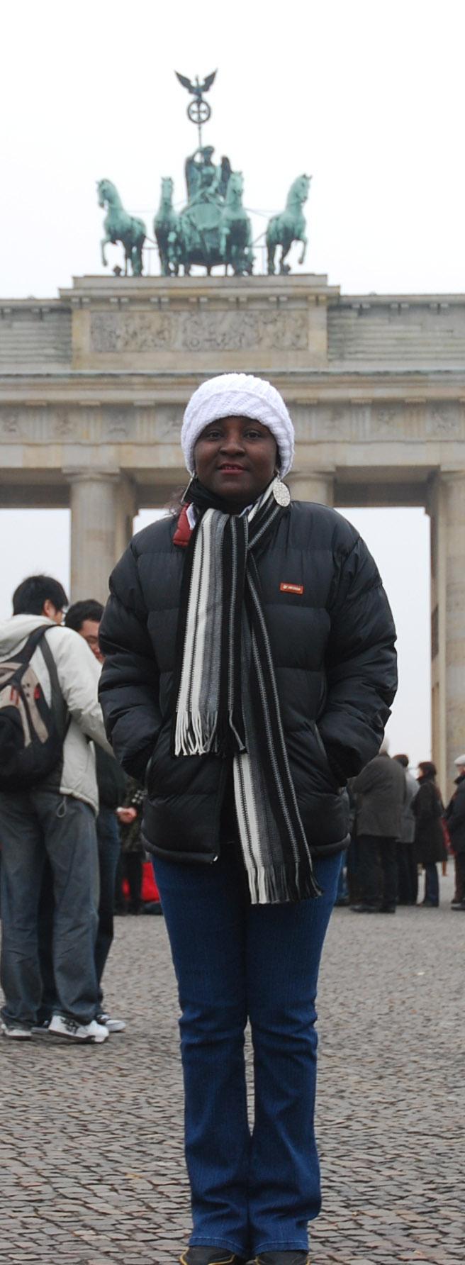 All weather tourist. At the Brandenburg Gate