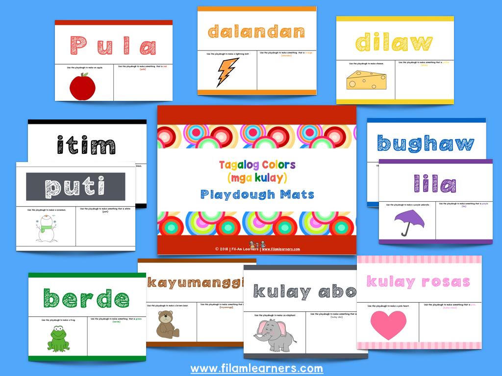 Mga Kulay Playdough Image 001