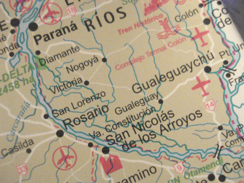 Localización geográfica del área de contaminaciones.