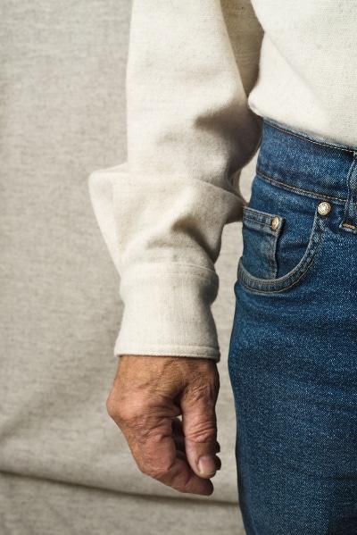 chemise pure laine mérinos longomai chantemerle détail manche